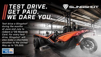 Slingshot Test Drive. Get Paid