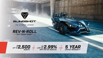 Slingshot - REV-N-ROLL - Test Drive Event and Model Offers